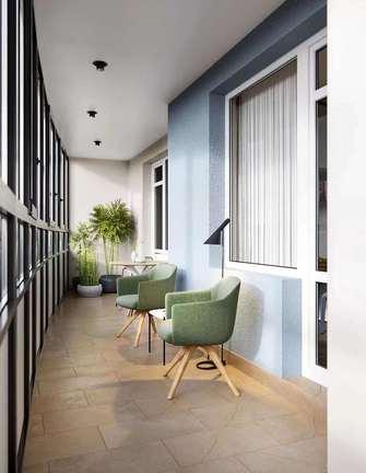 10-15万90平米三室两厅美式风格阳台图片大全