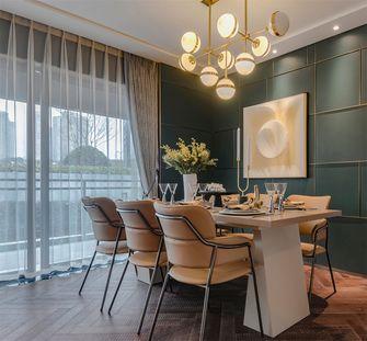 20万以上120平米三室一厅轻奢风格餐厅装修效果图