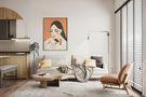 富裕型140平米三室一厅北欧风格客厅图