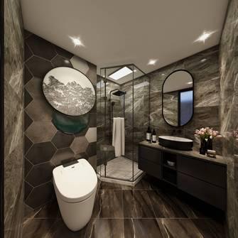 20万以上130平米三室三厅港式风格卫生间欣赏图
