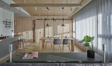 豪华型130平米三室两厅现代简约风格餐厅装修图片大全