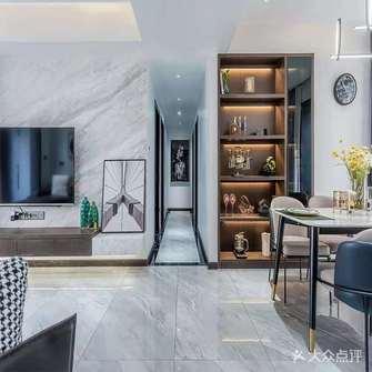 富裕型110平米三室三厅现代简约风格走廊装修图片大全