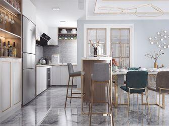 富裕型130平米三室两厅轻奢风格餐厅图片