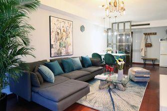 80平米田园风格客厅设计图