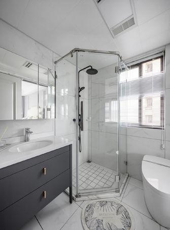 富裕型110平米三室两厅欧式风格卫生间图片