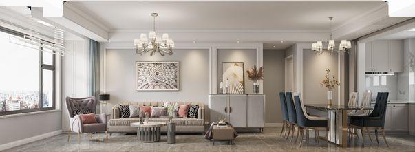 富裕型120平米三室一厅美式风格客厅装修案例