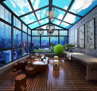 140平米别墅中式风格阳台图