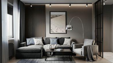 富裕型90平米三室两厅现代简约风格客厅欣赏图