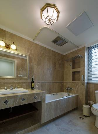 富裕型110平米三室一厅美式风格卫生间装修效果图