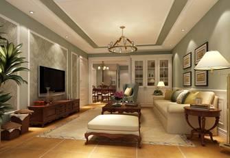 90平米三室一厅田园风格客厅装修案例