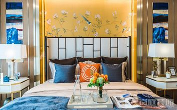 豪华型140平米四室三厅混搭风格卧室设计图