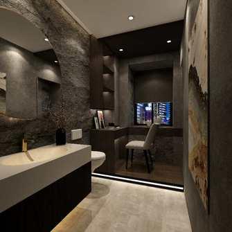 经济型120平米三室两厅现代简约风格卫生间效果图