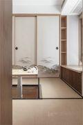 富裕型100平米三室两厅日式风格书房效果图