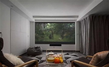 富裕型120平米复式现代简约风格影音室图片大全