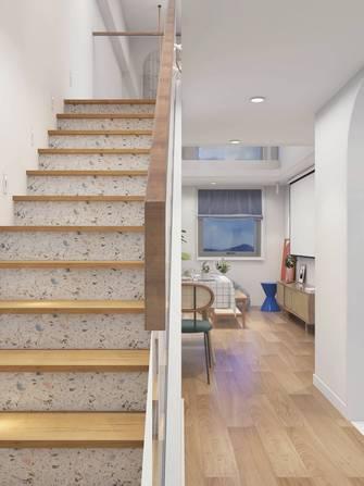 80平米三室两厅现代简约风格楼梯间装修案例