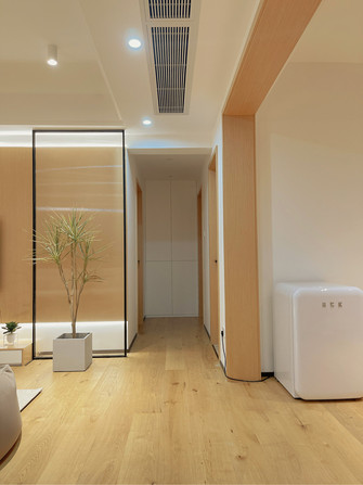 80平米三室两厅日式风格走廊图片