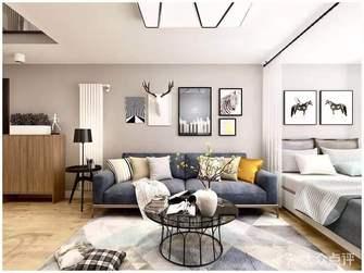 5-10万100平米四室两厅北欧风格客厅装修图片大全