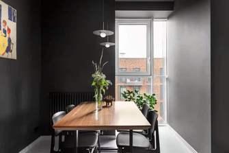 110平米三室两厅工业风风格餐厅图片大全