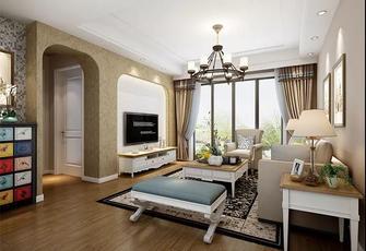 80平米地中海风格客厅装修图片大全