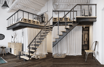 经济型40平米小户型美式风格楼梯间装修效果图