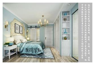 经济型90平米一居室地中海风格卧室图片