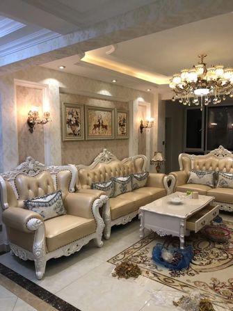 富裕型90平米三室两厅欧式风格客厅图