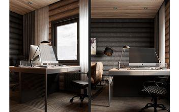 120平米三室一厅现代简约风格书房设计图