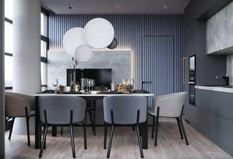 5-10万50平米三室两厅港式风格餐厅装修案例