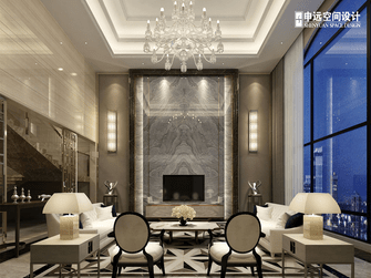 豪华型140平米别墅港式风格客厅设计图
