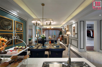 110平米三室两厅新古典风格餐厅图