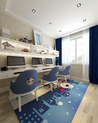 富裕型100平米三室两厅欧式风格书房设计图