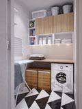 80平米现代简约风格储藏室装修效果图