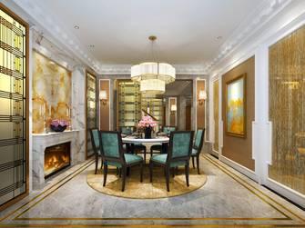 豪华型140平米别墅英伦风格餐厅图片大全