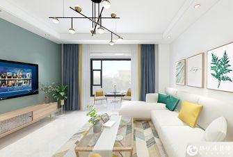 5-10万90平米三室两厅北欧风格客厅效果图