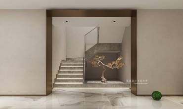 豪华型140平米复式轻奢风格楼梯间欣赏图