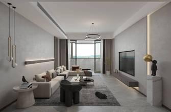 20万以上130平米三室三厅轻奢风格客厅设计图