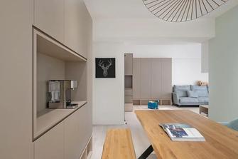 富裕型100平米三室一厅现代简约风格餐厅图片大全