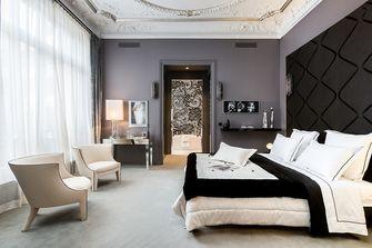 豪华型140平米三室一厅法式风格卧室图片