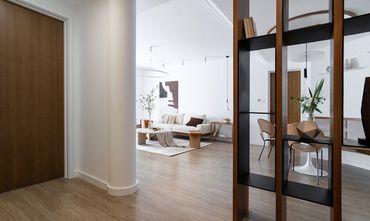 富裕型100平米三室一厅现代简约风格玄关图片大全