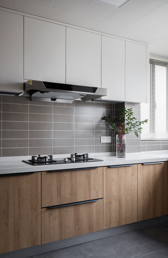 富裕型120平米三室两厅公装风格厨房设计图
