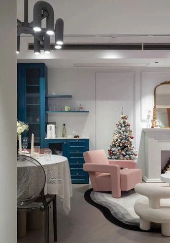 富裕型90平米三室一厅新古典风格客厅图