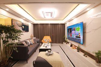 豪华型110平米三室两厅混搭风格客厅图片