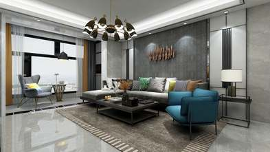 20万以上140平米四室一厅现代简约风格客厅设计图