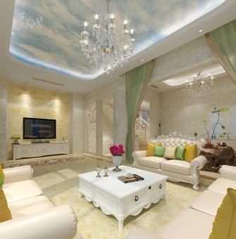 20万以上140平米别墅田园风格客厅图片