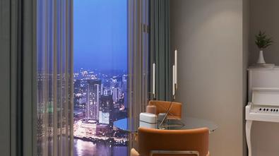 5-10万90平米三室一厅北欧风格阳台装修图片大全