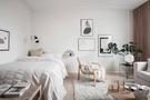富裕型40平米小户型北欧风格卧室效果图