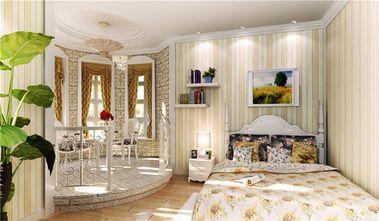 140平米三室一厅田园风格卧室图