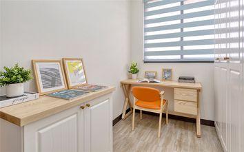 富裕型90平米三室两厅现代简约风格书房图片大全