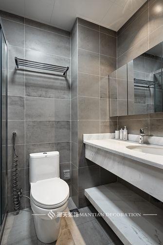 富裕型三室两厅日式风格卫生间图
