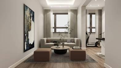 富裕型140平米三室两厅现代简约风格影音室装修案例